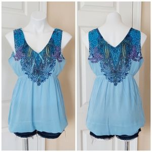 One World Babydoll Top Size M